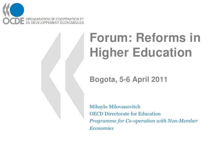 Reforma a la educacion superior ocde (eng)