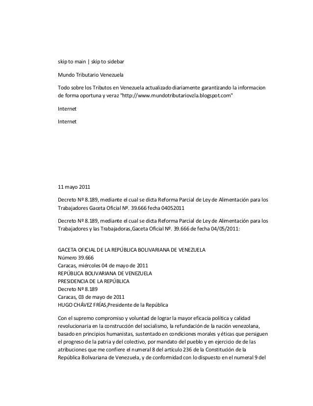 skip to main   skip to sidebarMundo Tributario VenezuelaTodo sobre los Tributos en Venezuela actualizado diariamente garan...