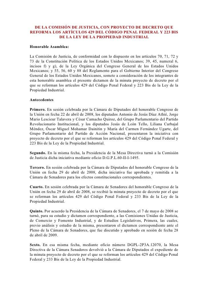 Reforma Arts 429 Cpf