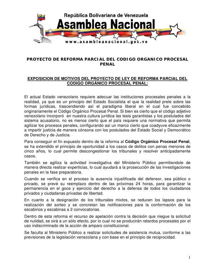 Reforma Parcial COPP