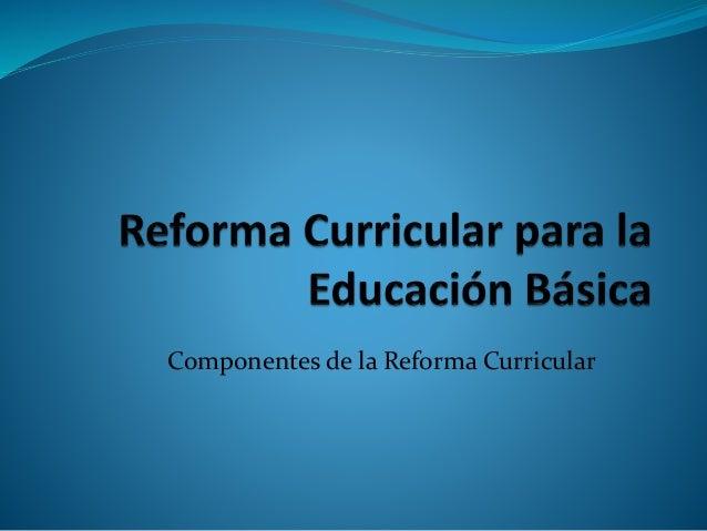 Componentes de la Reforma Curricular