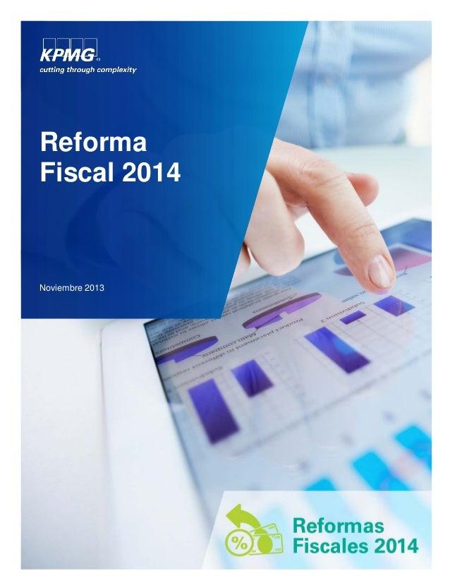 Reforma Fiscal 2014  Noviembre 2013
