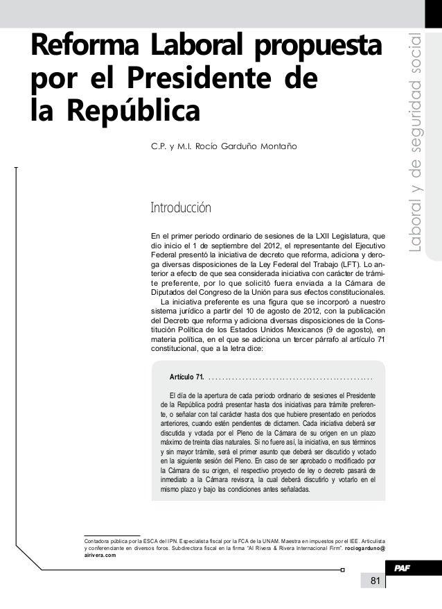 Reforma Laboral propuesta                                                                                                 ...