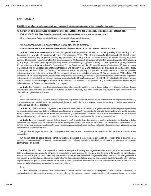 Reforma ley general_de_educacioon