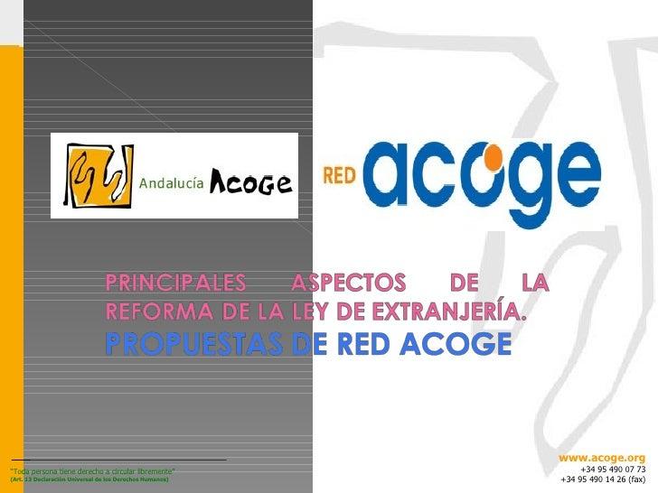 """"""" Toda persona tiene derecho a circular libremente"""" (Art. 13 Declaración Universal de los Derechos Humanos) www.acoge.org ..."""