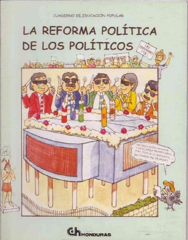 Reforma política de los políticos