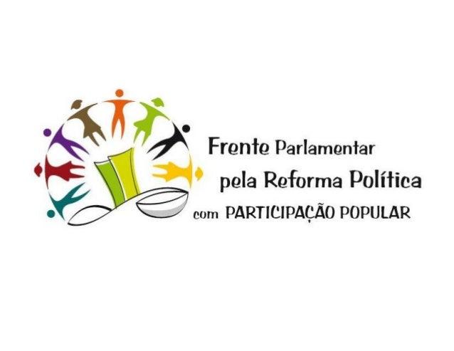 SUGESTÃO DE PROJETO DE LEI DE INICIATIVA DAS INSTITUIÇÕES DA SOCIEDADE CIVIL SOBRE A REFORMA POLÍTICA A SER APRESENTADA NA...