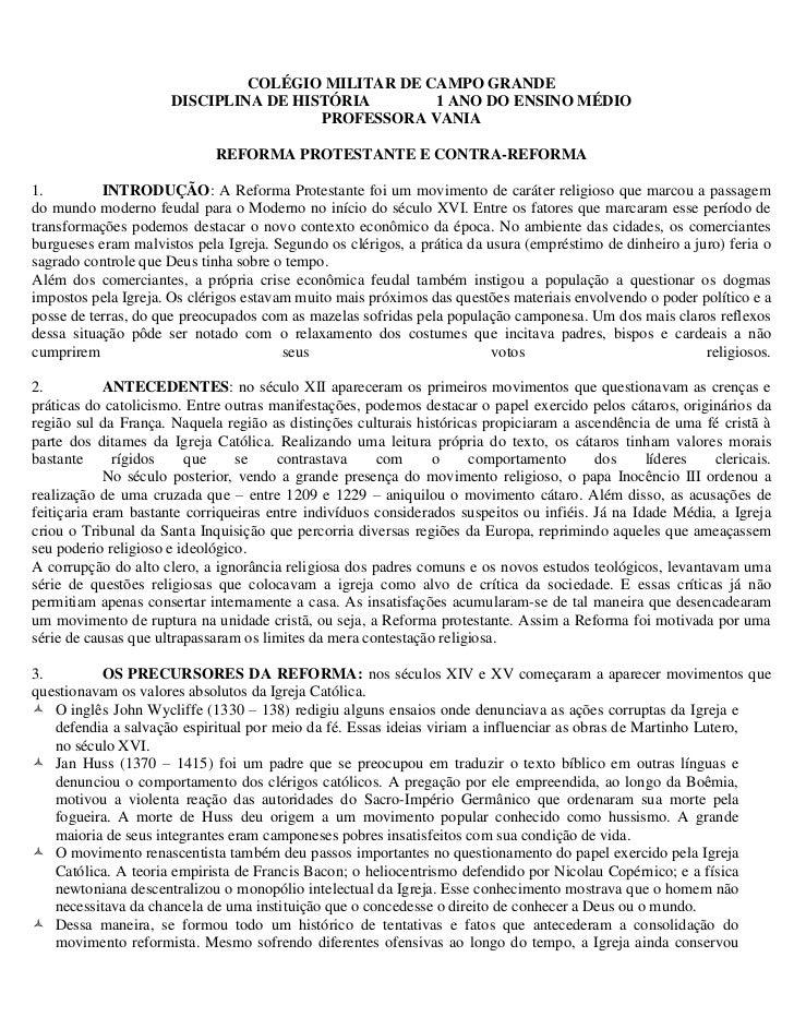 COLÉGIO MILITAR DE CAMPO GRANDE                      DISCIPLINA DE HISTÓRIA       1 ANO DO ENSINO MÉDIO                   ...