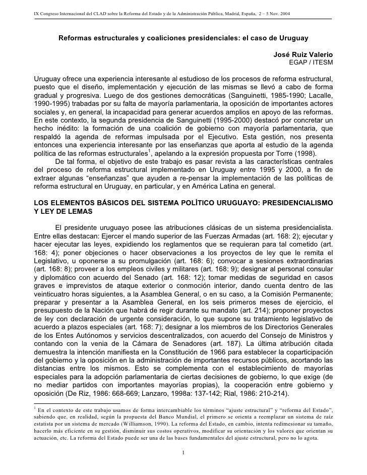 IX Congreso Internacional del CLAD sobre la Reforma del Estado y de la Administración Pública, Madrid, España, 2 – 5 Nov. ...