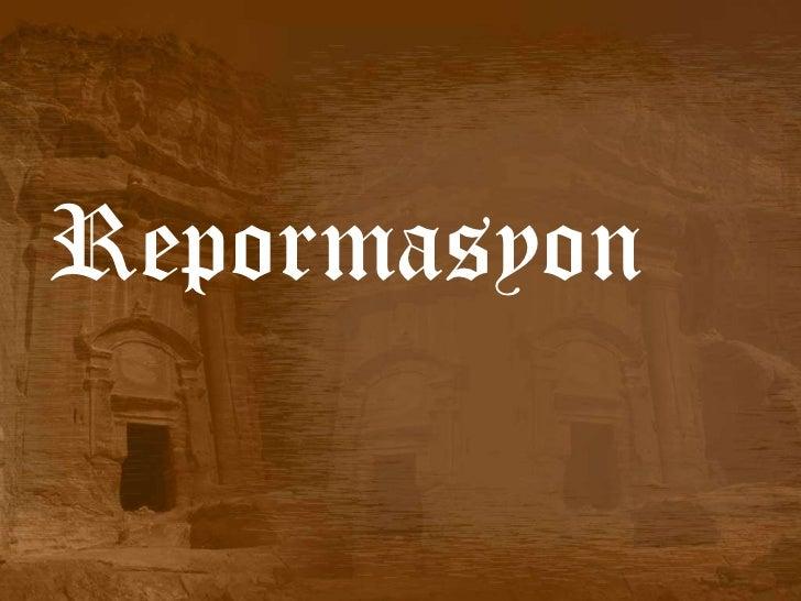 Repormasyon