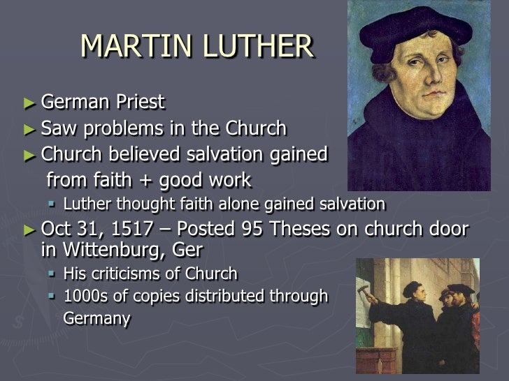 what was luthers fundamental religious problem Philosopher and sociologist of religions managing editor of the journal esprit   and how they posed a fundamental question: in the salvation religions, can.