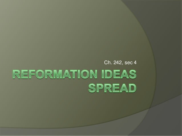 Reformation ideas spread