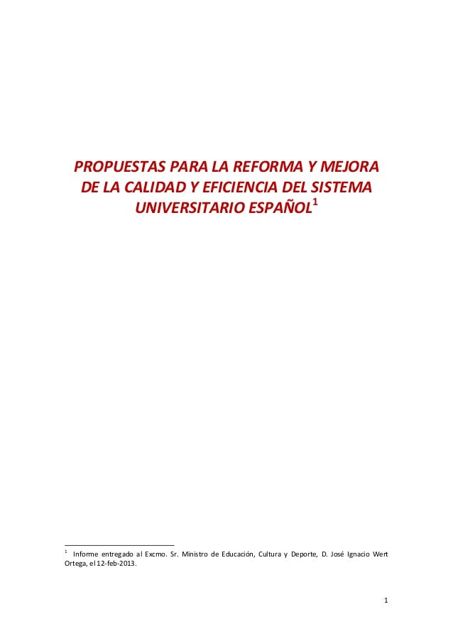 Propuesta de Reforma Universitaria