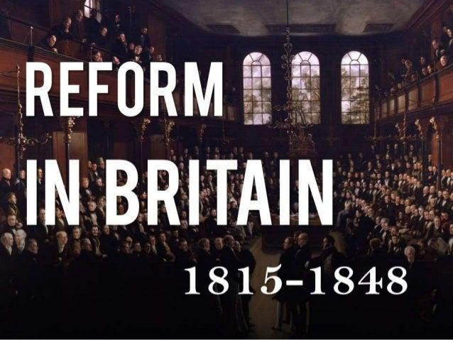 Reform in Britain (1815-1848)