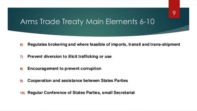 Trafficking and brokering trade controls