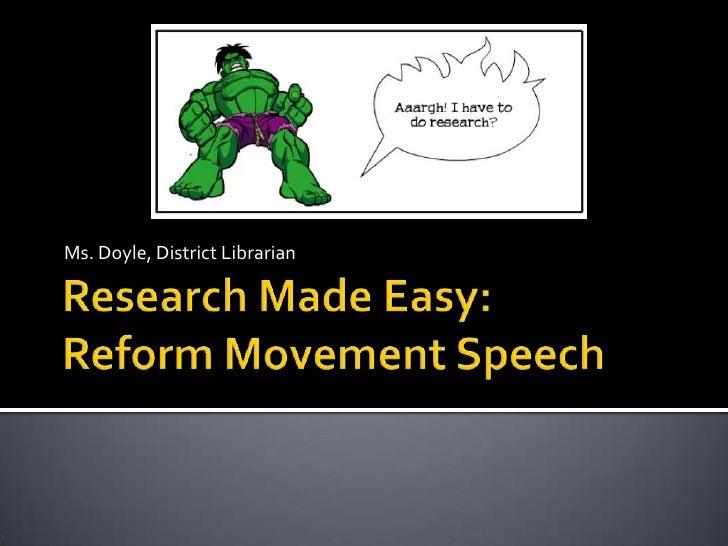 Reformmovementspeech