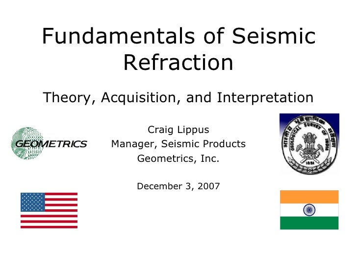 Fundamentals of Seismic Refraction