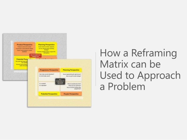 Sample Use of Reframing Matrix Effective Problem Solving Technique - PowerPoint Presentation