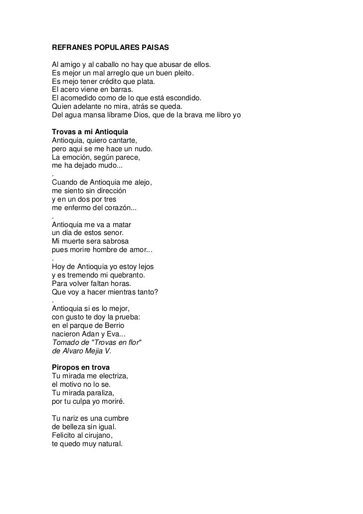 Dichos Paisas Colombianos