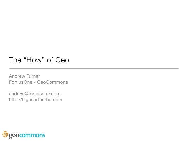 RefreshDC - The How Of Geo