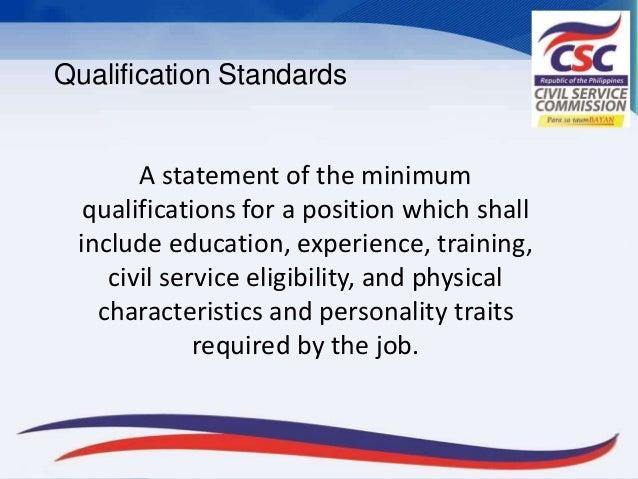civil service commission evaluation and qualification
