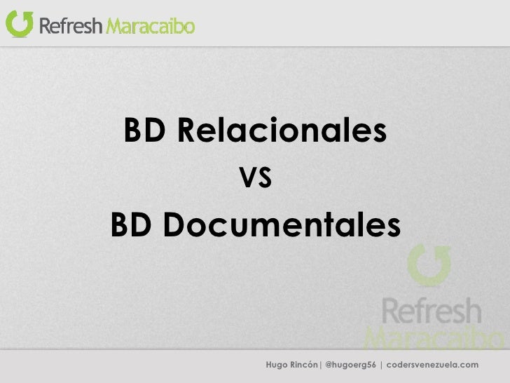 DB relacionales vs DB documentales