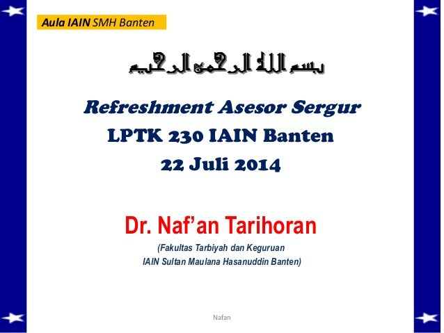 Refreshment asesor sergur-rayon 203_iain_banten_nafan