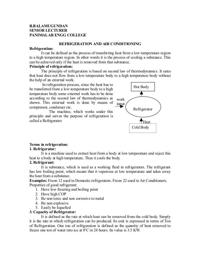 Refrigeration and-air-conditioning-notes
