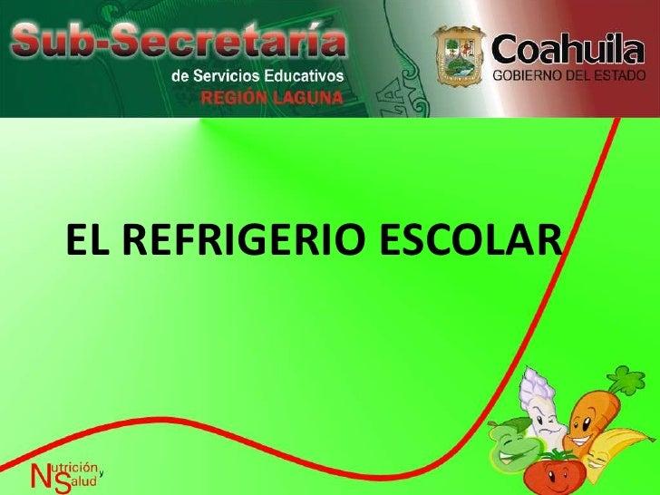 EL REFRIGERIO ESCOLAR