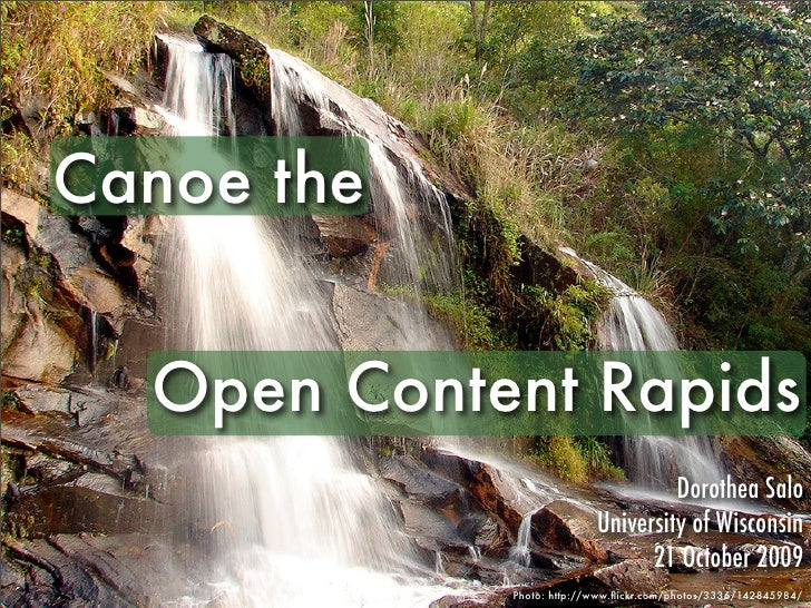 Canoe the Open Content Rapids