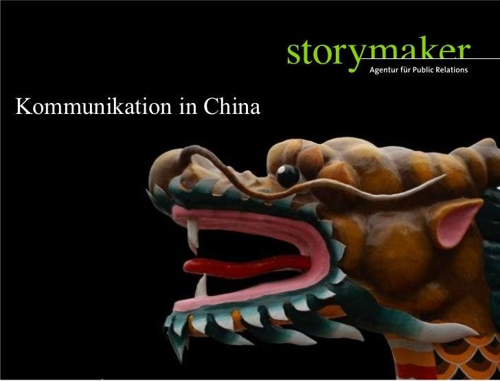 Storymaker Referenzen Kommunikation in China