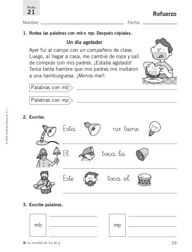 Refuerzo lengua 2 for Mp mb scuola primaria