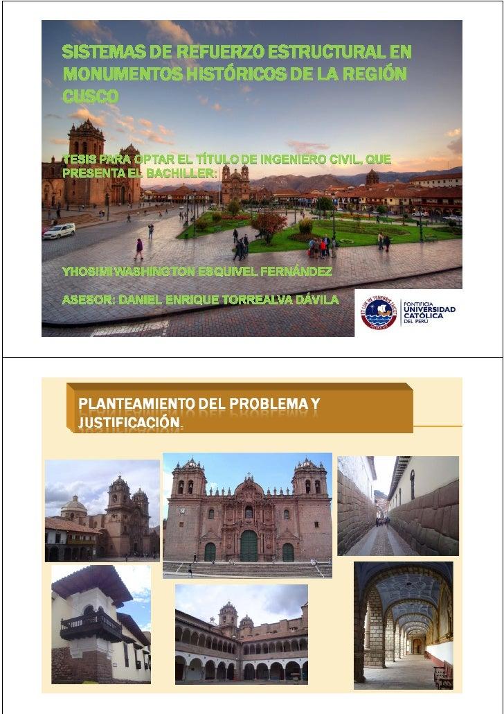 Refuerzos estructurales para Monumentos_Tesis