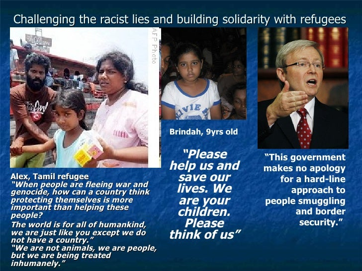 Countering the racist lies & building solidarity with refugees