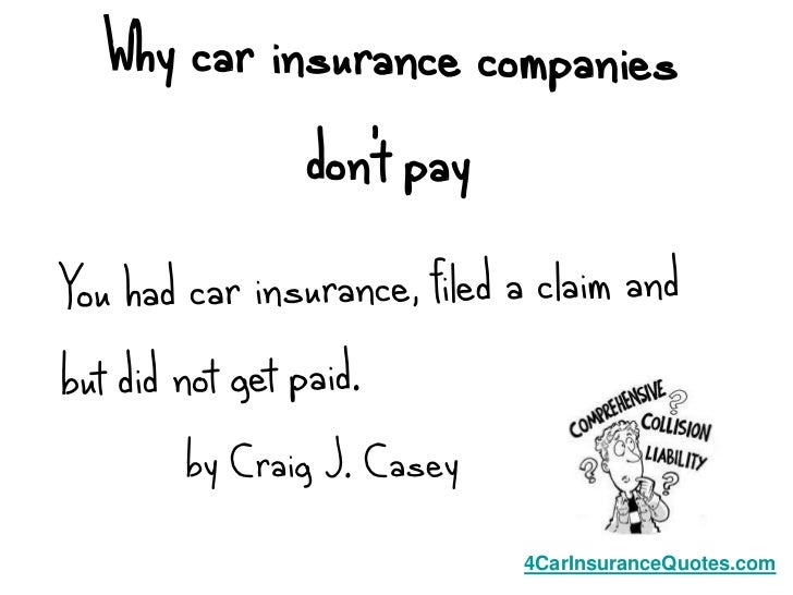 by Craig J. Casey                    4CarInsuranceQuotes.com