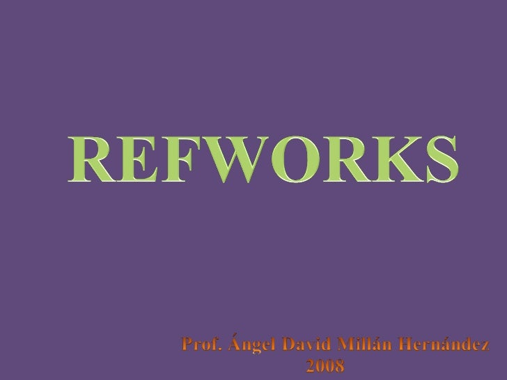 Ebsco Host a Refworks