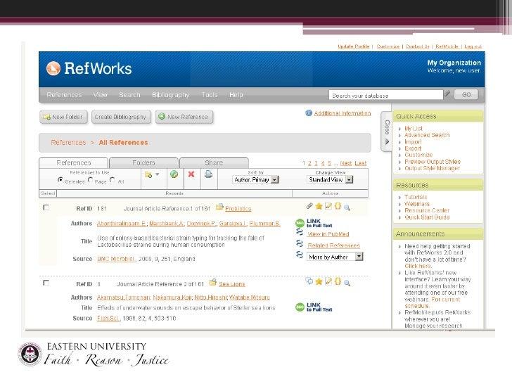Ref Works 2.0 Screen Shot