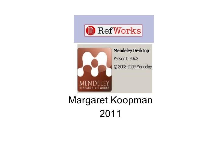 Margaret Koopman 2011