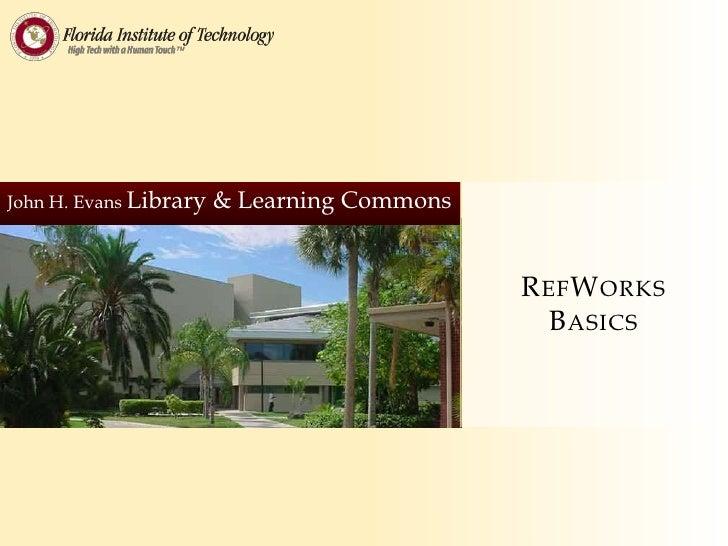 RefWorks Basics
