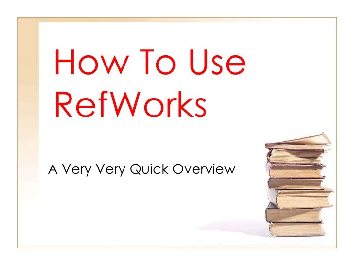 RefWorks How to version 1