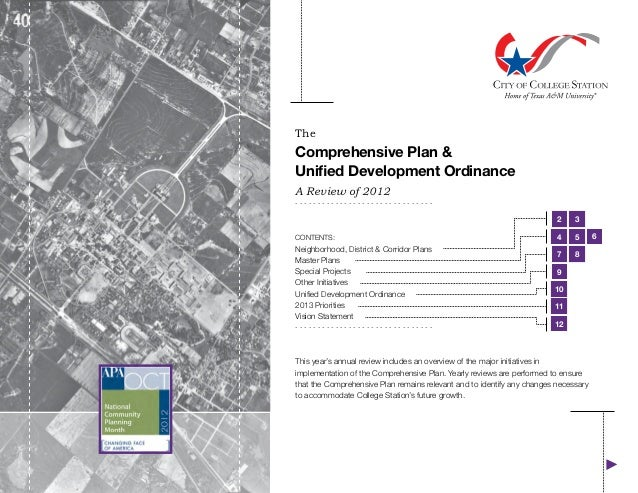 TheComprehensive Plan &Unified Development OrdinanceA Review of 2012...............................                       ...