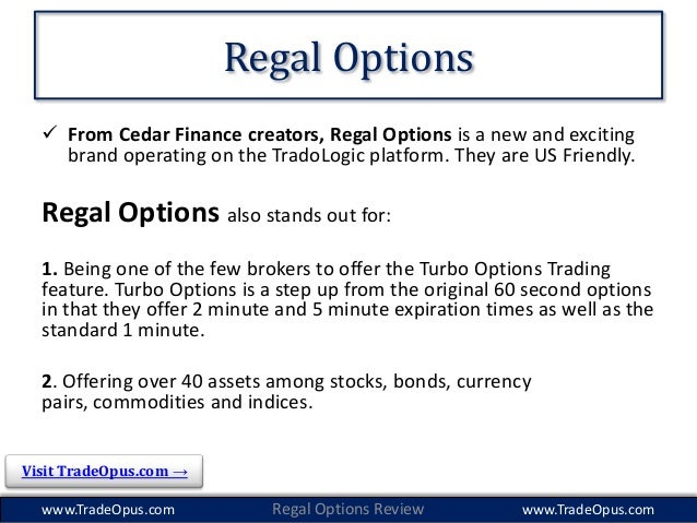 regal options binary search