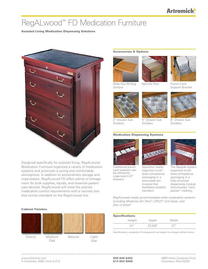 RegALwood™ FD Medication Furniture Assisted Living Medication Dispensing Solutions                                        ...