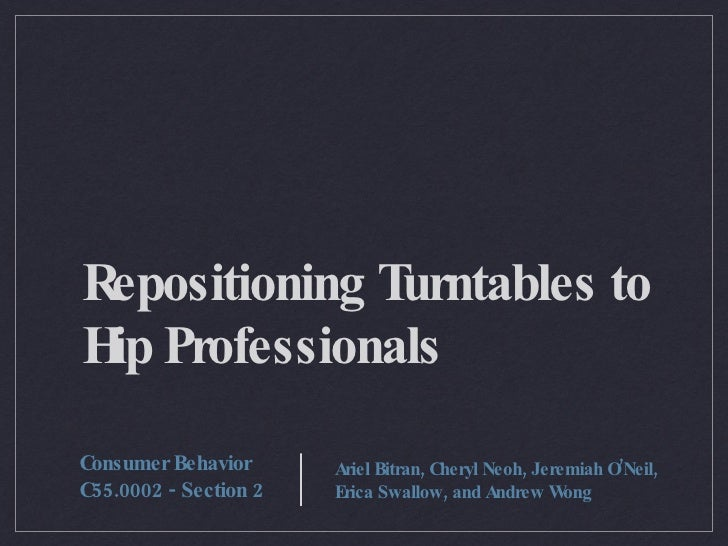 Re-Positioning Rega Turntables to Hip Professionals
