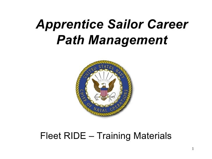 Apprentice Sailor Career Path Management Fleet RIDE – Training Materials