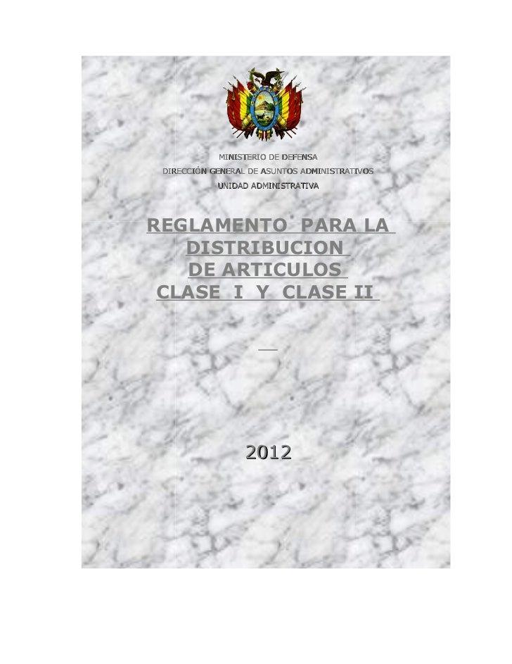 MINISTERIO DE DEFENSA DIRECCIÓN GENERAL DE ASUNTOS ADMINISTRATIVOS            UNIDAD ADMINISTRATIVAREGLAMENTO PARA LA   DI...