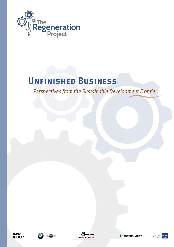 Unfinished Business Perspectives from the Sustainable Development Frontier                                                ...