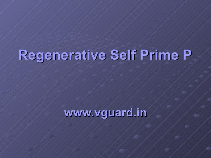 Regenerative Self Prime Pumps   www.vguard.in