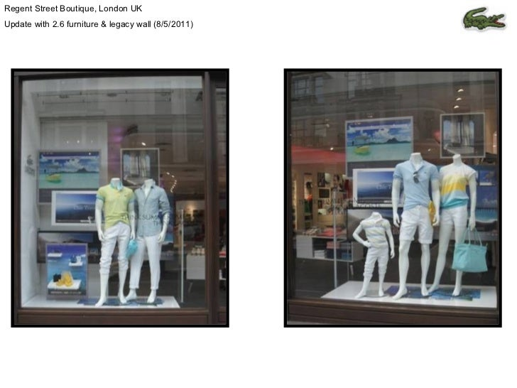 Regent Street Boutique, London UK Update with 2.6 furniture & legacy wall (8/5/2011)