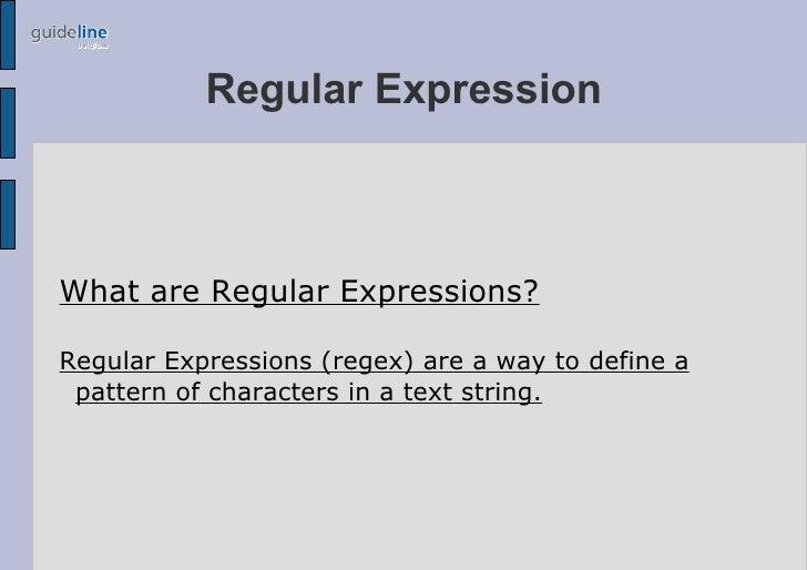 Regex Presentation